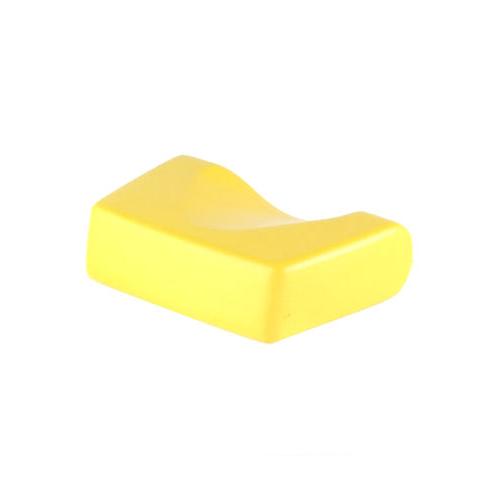 Kopfpolster, ergonomische Form, gelb