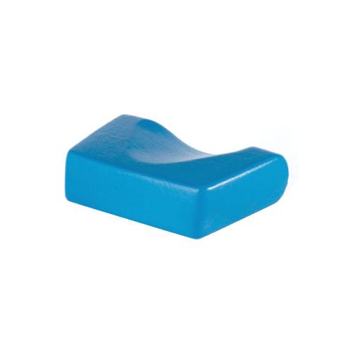 Kopfpolster, ergonomische Form, blau