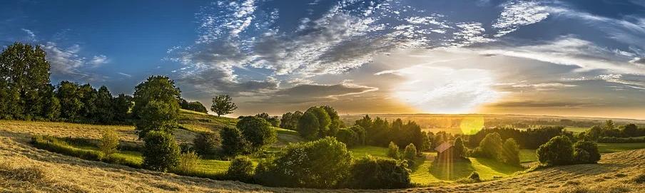 Sonne-Landschaft